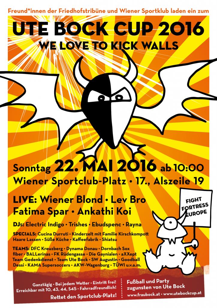 Plakat Ute Bock Cup 2016